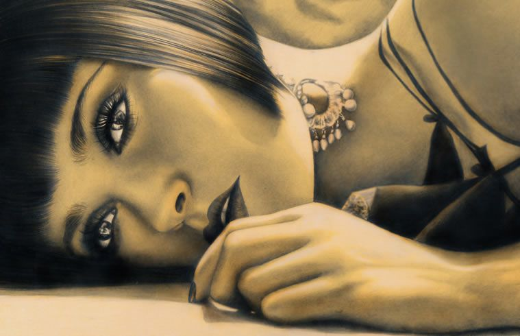 drawings portrait realistic pencil Salma Hayek