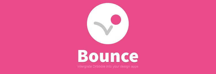 Bounce can be used to connect Dribbble with Adobe tools extension plugin Photoshop