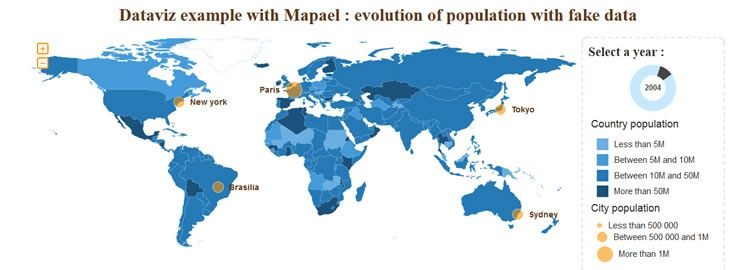 Mapael is a jQuery plugin based on raphael.js that allows you to display dynamic vector maps