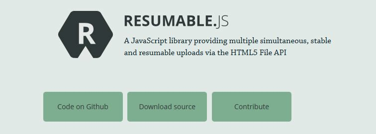 Resumable.js is JavaScript library for multiple simultaneous and stable and resumable uploads