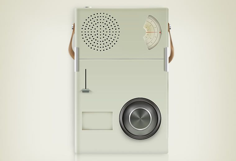 illustrated inspired Braun Radio by King Jean