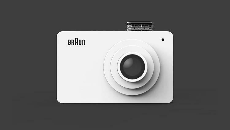 illustrated inspired Braun Camera by Kim Seongjin