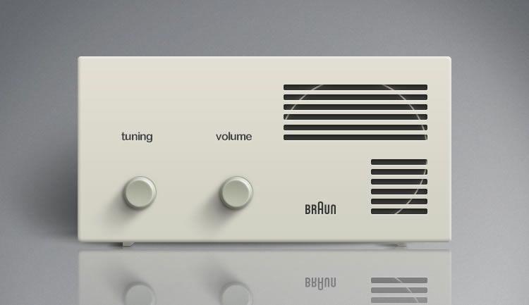 illustrated inspired Braun Lectron Radio by Victor J