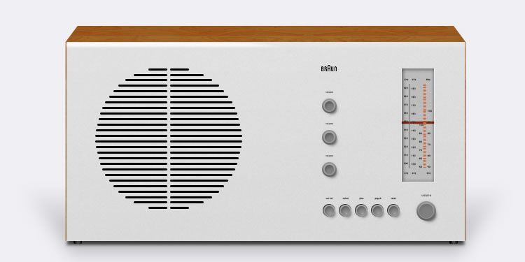 illustrated inspired Braun RT20 Tube Radio by G79