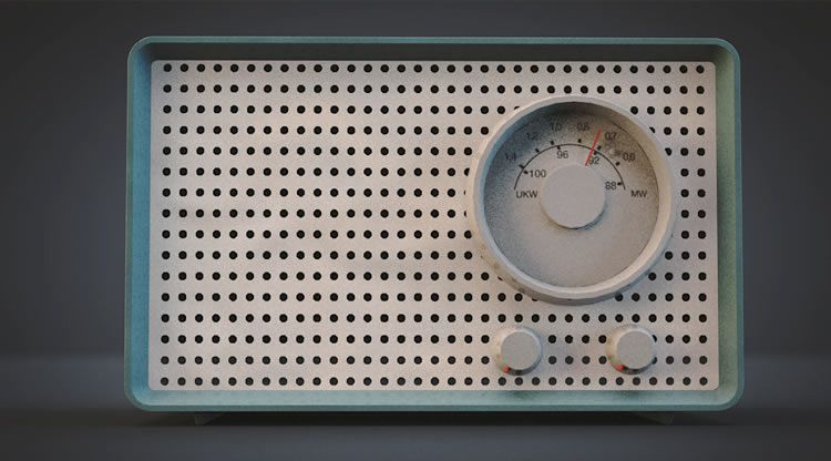 illustrated inspired Braun SK2 Radio 3D by Thomas Klomp