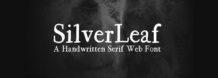 SilverLeaf free typeface