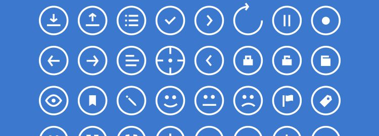 Rounded Icons 48 Icons PSD designers freebies