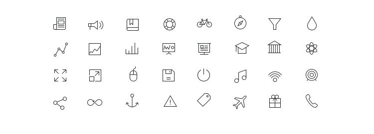 Tab Bar Icons 32 Icons PSD AI EPS designers freebies
