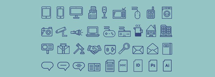 Pictograms Reloaded 70 Icons AI designers freebies