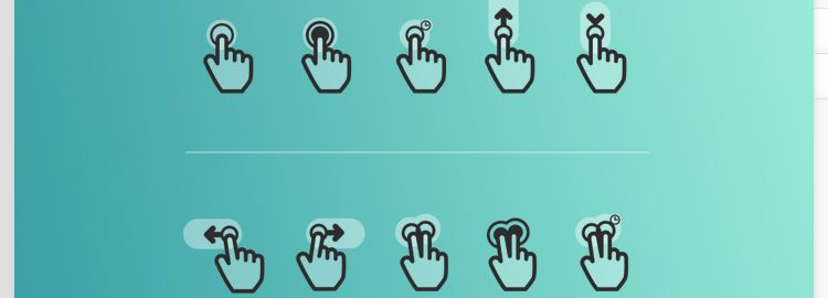 Flat Gesture Icons Pack Icons PSD EPS designers freebies