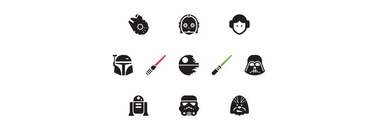 Star Wars Icons Icons AI designers freebies