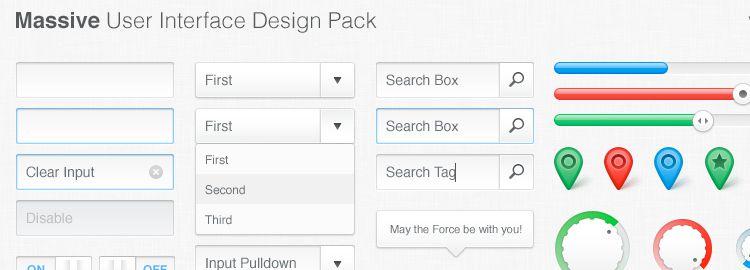 Massive UI Design Pack PSD designers freebies