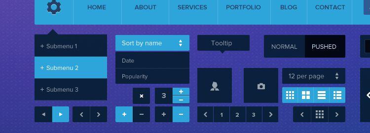 Metro Tiles UI Kit PSD designers freebies