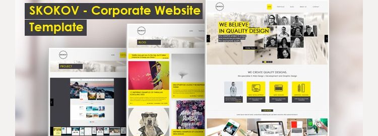 Corporate Web Design Template PSD designers freebies