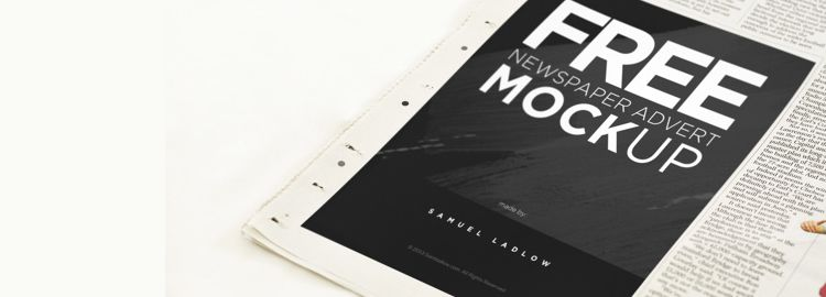 Newspaper Advert Mockup PSD designers freebies