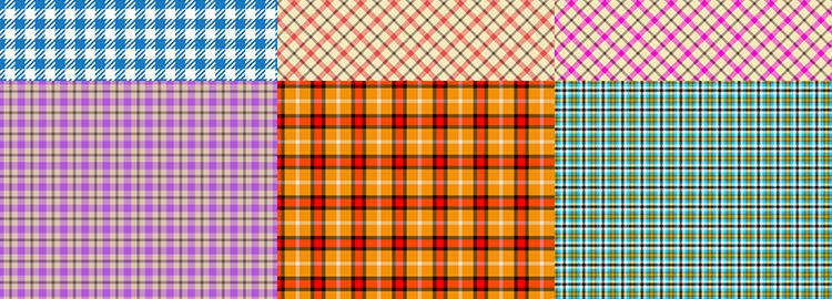 Plaid Patterns 25 Patterns PAT designers freebies