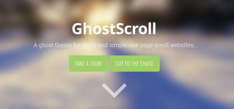 GhostScroll theme ghost free