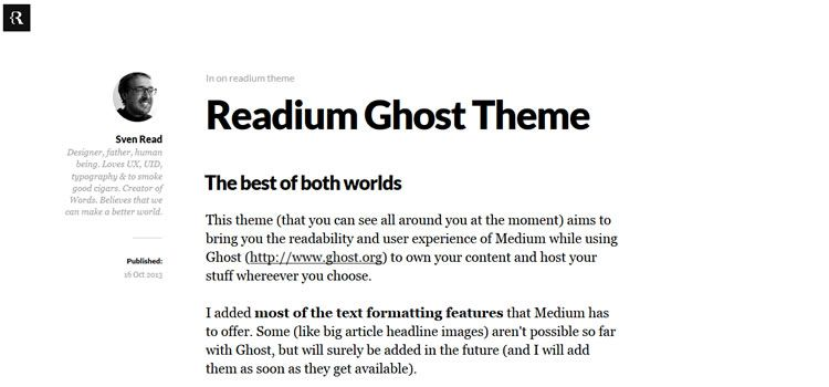Readium theme ghost free