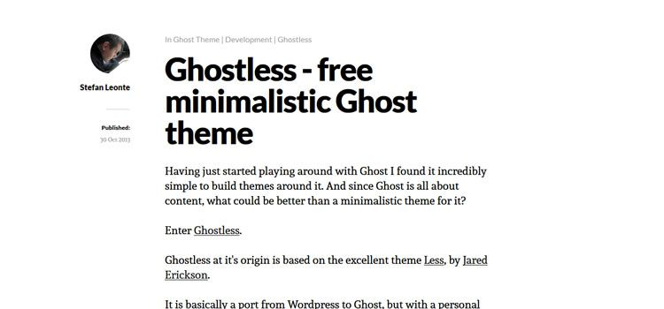 Ghostless theme ghost free
