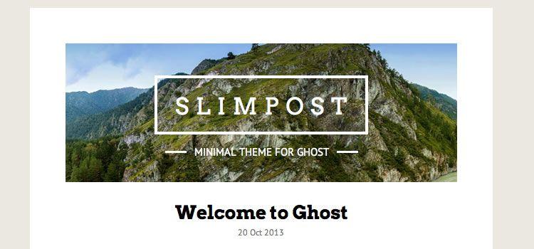 SŁIMPØST theme ghost free