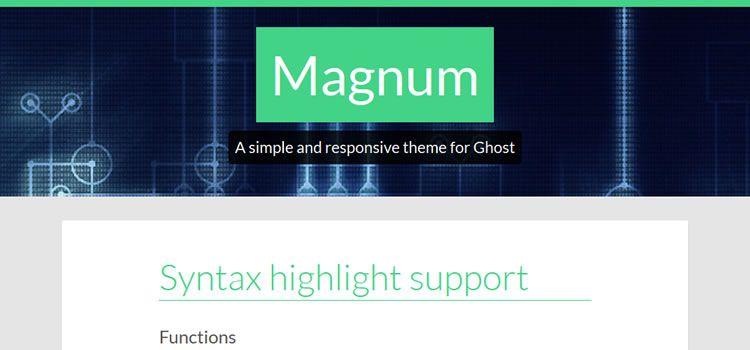 Magnum theme ghost free