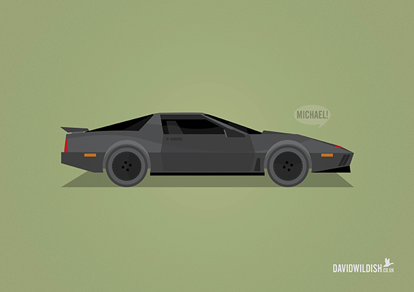 cars iconic tv movie illustration Knight Rider kit