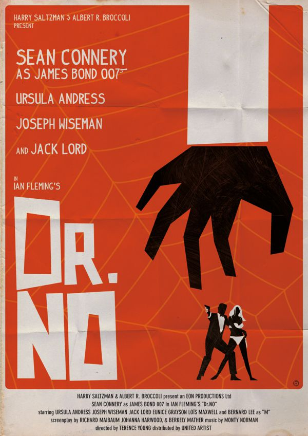 james bond poster vintage fan art illustrations Dr. No