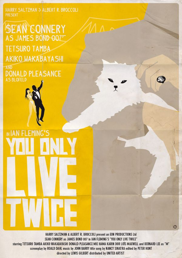 james bond vintage poster fan art illustrations You Only Live Twice