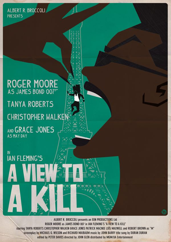 james bond vintage fan art illustrations A View to a Kill