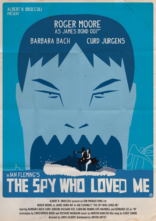 james bond vintage fan art illustrations The Spy Who Loved Me