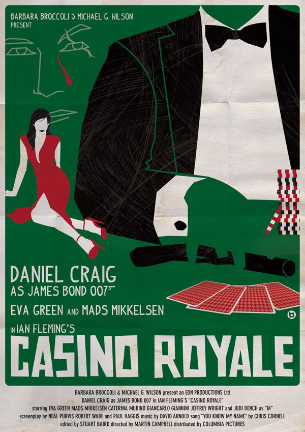 james bond vintage fan art illustrations Casino Royale