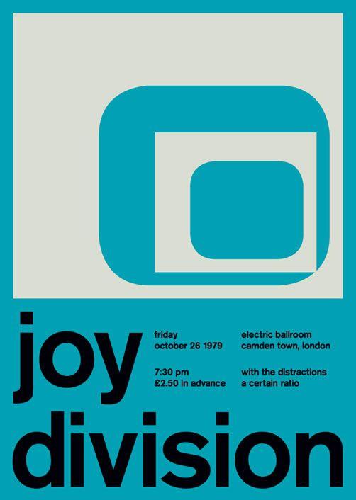 joy division poster swiss modernism