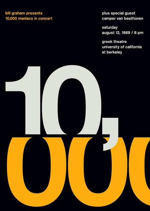 10,000 Maniacs poster swiss modernism