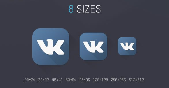 various sizes Social Media Icons Freebie Preview