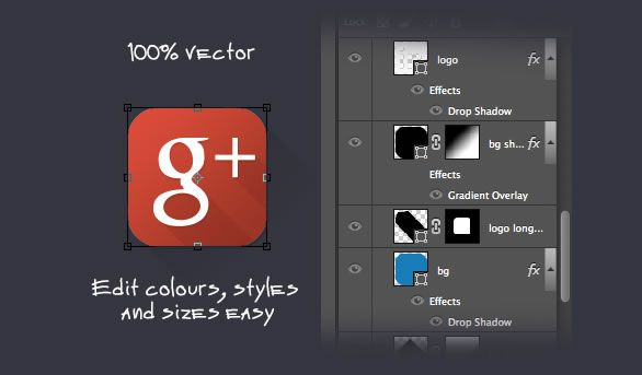 png and psd Social Media Icons Freebie Preview