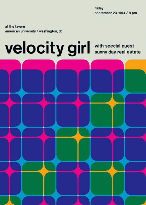 Velocity Girl poster swiss modernism