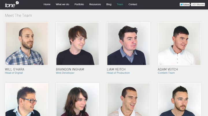 united kingdom tone agency design website team
