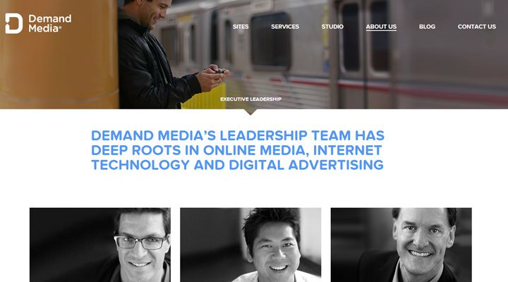 demand media website company team employees webpage