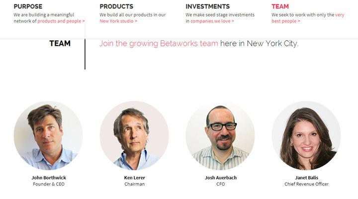 betaworks creative design studio website team