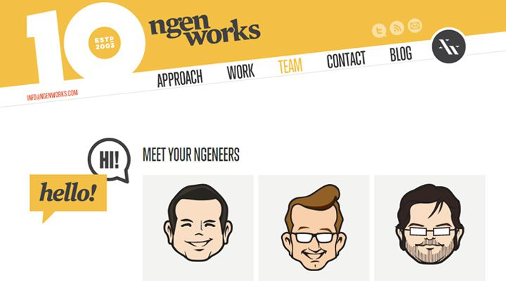 ngen works team design company webpage