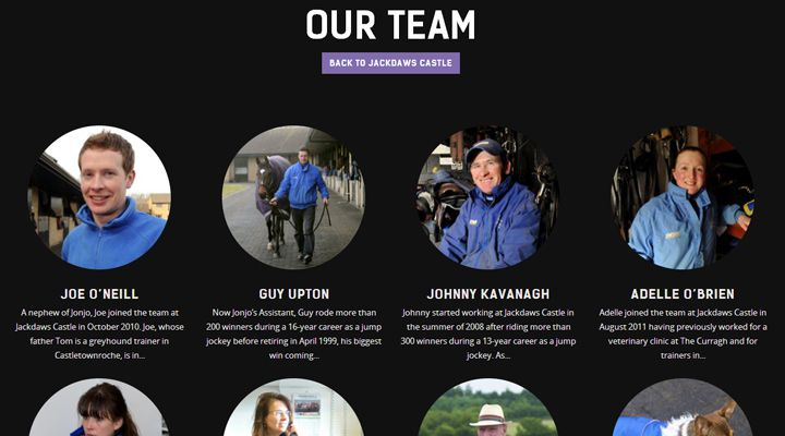 jonjo oneill racing website webpage team members staff