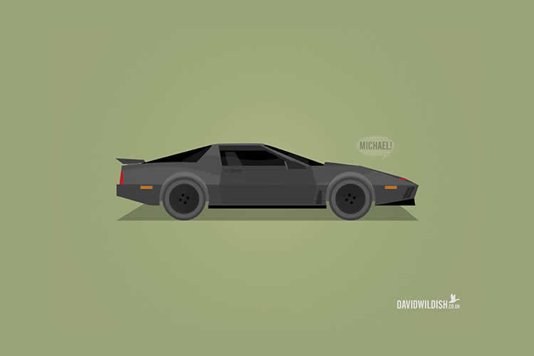 An Illustrated Poster Series of the Most Iconic Cars from TV and Movies