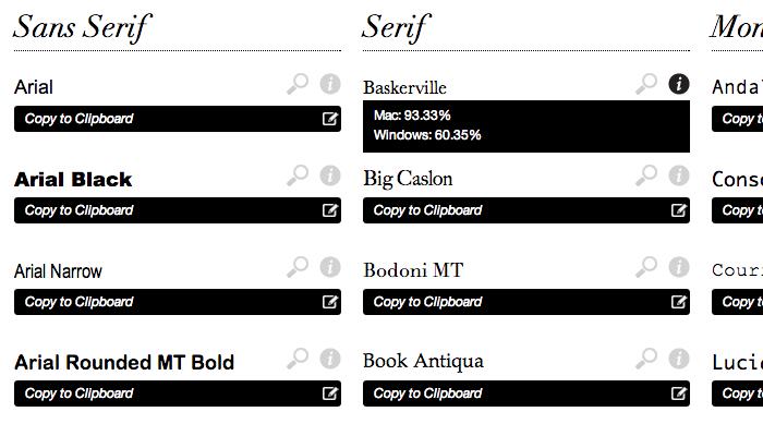 css font stacks families generator webapp 2013