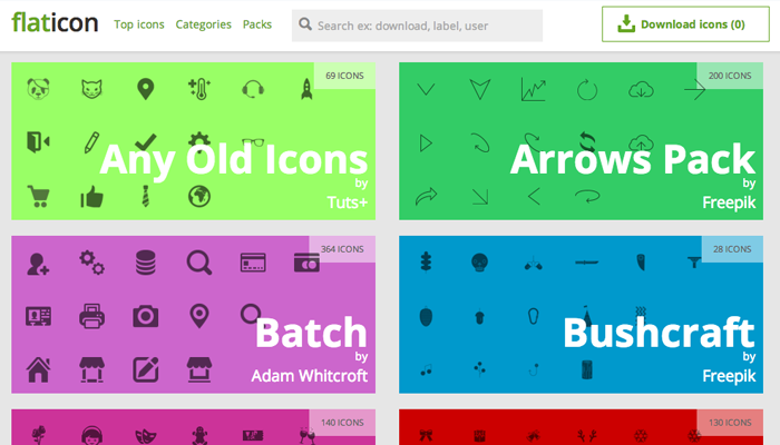 flat icon packs ui freebie open source fonts