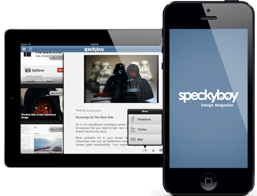 Speckyboy iOS App Splash
