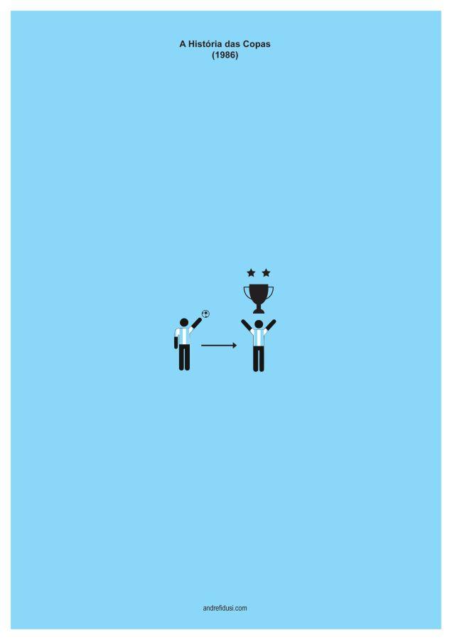 1986 Fifa World Cup Minimalist Poster Series