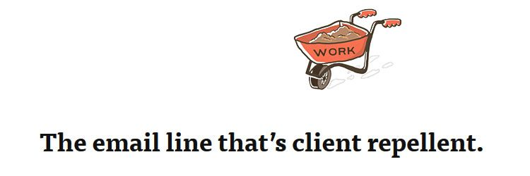email line that's client repellent - Weekly Design News