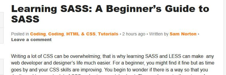 beginner's guide to SASS - Weekly Design News