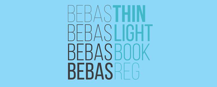 Bebas Neuefont designed by Ryoichi Tsunekawa free font