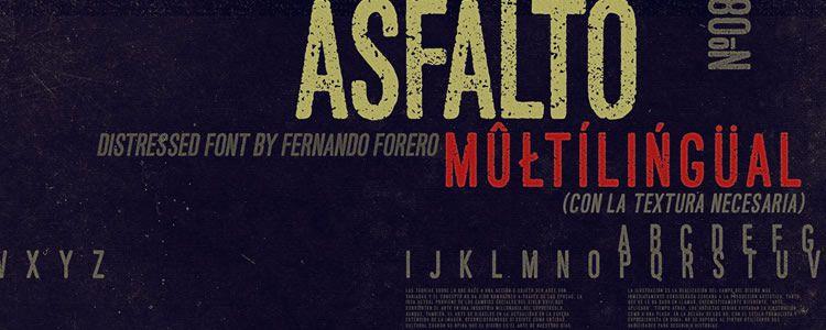Asfaltofont designed by Fernando Forero free typeface